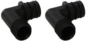 "Flojet 20381-008 Electric Pump Fitting - Quad Port x 1/2""-14 Male, Elbow"