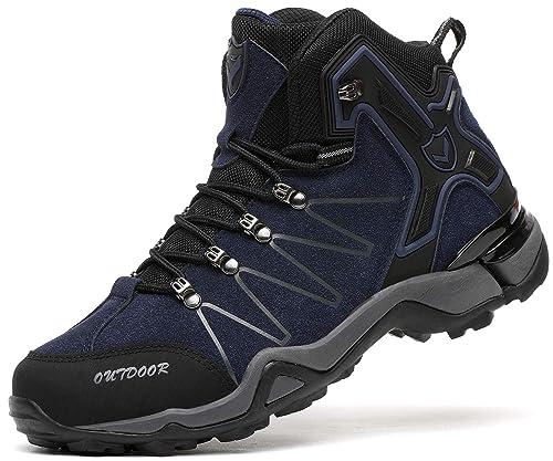 b7f7f3703d7b8 Botas de montaña para Hombre Botas de Senderismo de Ocio al Aire Libre  Zapatos de Deporte Zapatillas de Senderismo Cordones Trainer Botas  Amazon. es  ...