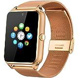Fantime Smartwatch Relojes Inteligentes Bluetooth Smartwatches Soporta Llamada Mensaje Tarjeta SIM/TF Pantalla Táctil /Facebook/Twitter/Podómetro/ Internet para Android Teléfonos Inteligentes