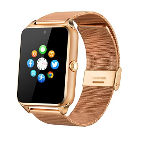 Fantime Smartwatch Relojes Inteligentes Bluetooth Smartwatches Soporta Llamada Mensaje Tarjeta SIM/TF Pantalla Táctil /