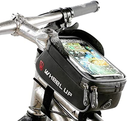 WHEEL UP Waterproof Bicycle Front Bag MTB Road Tube Frame Handlebar Touch Bags