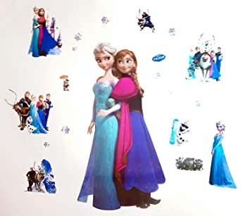 Kibi Wandtattoo Frozen Wandaufkleber Babyzimmer Frozen Elsa und Anna  Wandsticker Frozen Disney für Kinderzimmer Living Room Removable Prinzessin  Elsa ...