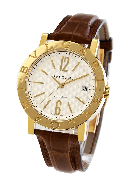 ブルガリ ブルガリブルガリ YG金無垢 アリゲーターレザー 腕時計 メンズ BVLGARI BB38WGLDAUTO[並行輸入品] B015GXKSTI