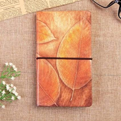 BJBCH Agenda De Diario De Cuaderno De Cuero Natural Vintage ...