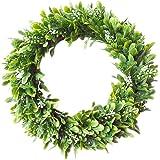 "Palmhill 14"" Eucalyptus-Wreath Artificial Wreath Door Wreath Leaves Wreath Eucalyptus Garland for Home Front Door Office Wall"