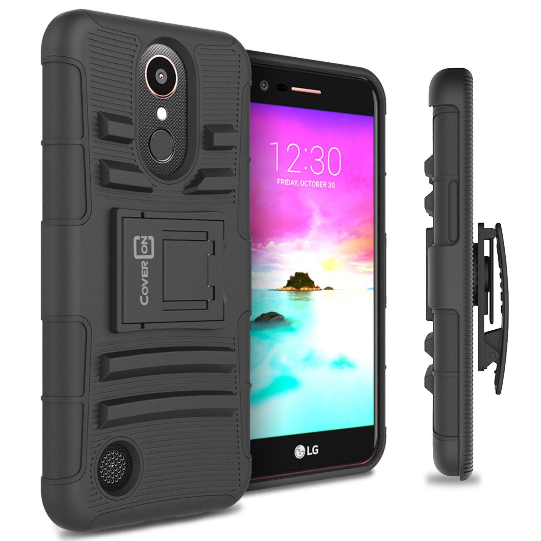 LG K20 Plus Case, V CoverON [Explorer Series] Holster Hybrid Armor Belt Clip Hard Phone Cover For / Case - Black Amazon.com: