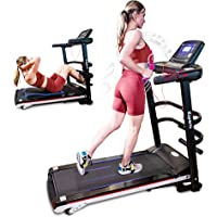 Ksports Treadmill Bundle Comprising of Electric Folding Treadmill for Home, Sit Ups Rack & Ab Mat & Dumb Bells for Home…