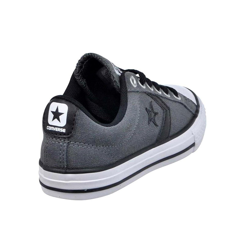 5ec15d608b99 Amazon.com  Converse Kids Star Player EV Ox Thunder Black Textile Trainers  11.5 US  Shoes