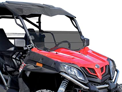 SuperATV Heavy Duty Dark Tinted Half Windshield for CFMOTO ZForce 800 EX /  500/800 Trail / 1000 (2014+) - Installs Within 5 Minutes!