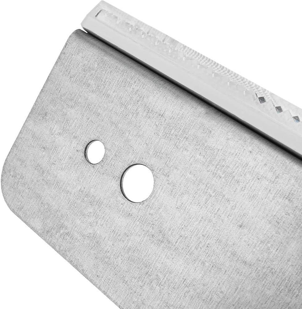 Weisse Metall Wand F/änger PrimeMatik Strassen Reflektor 18 x 180 mm