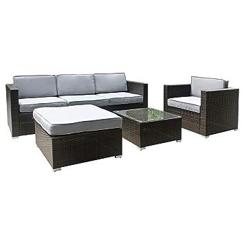 Amazonde Xxl Rattan Polyrattan Gartenmöbel Lounge Sitzgruppe