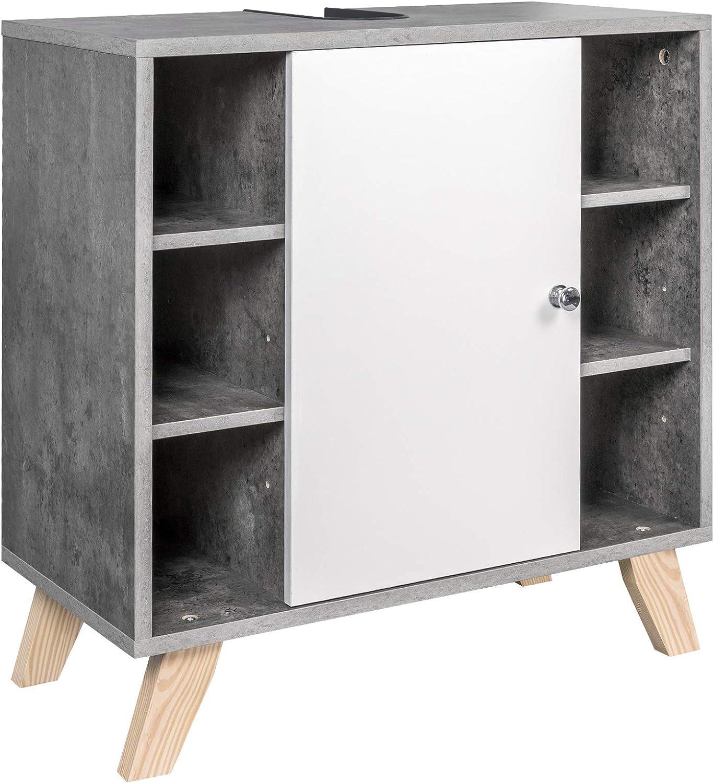 EUGAD Mueble de Baño Armario Bajo Lavabo Mueble para Debajo de ...