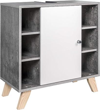 EUGAD Mueble de Baño Armario Bajo Lavabo Mueble para Debajo de Lavabo Mueble Lavabo de Baño Almacenamiento con Puerta 60 x 30 x 62 cm 0119WY: Amazon.es: Hogar