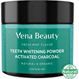 Charcoal Teeth Whitening Powder with Spearmint Flavor