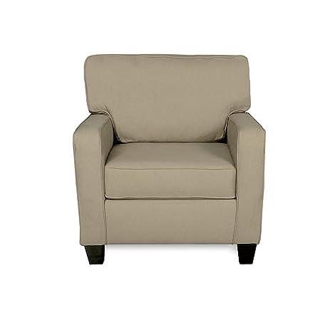 Amazoncom Cosmopolitan Beige Fabric Armchair with ToolFree