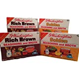 G Washington's Seasoning and Broth - 2 Golden and 2 Rich Brown Variety Pack - Meat and Gluten-Free