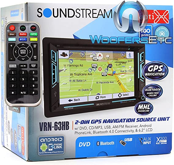 Soundstream 2 DIN Unit w 6.5″Touch Screen W// Car Radio Stereo CD Player Dash Kit