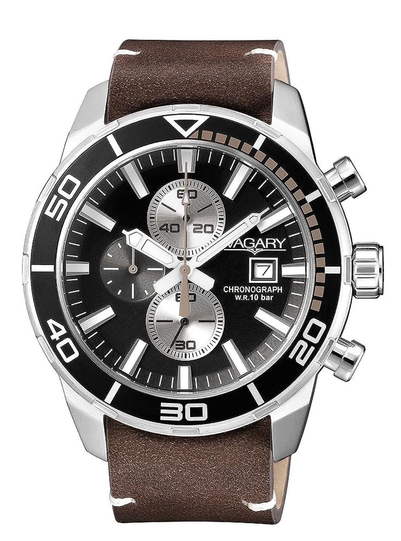 Uhr Vagary Aqua 39 IA9 – 616 – 52 Quarz (Batterie) Stahl Quandrante schwarz Armband Leder