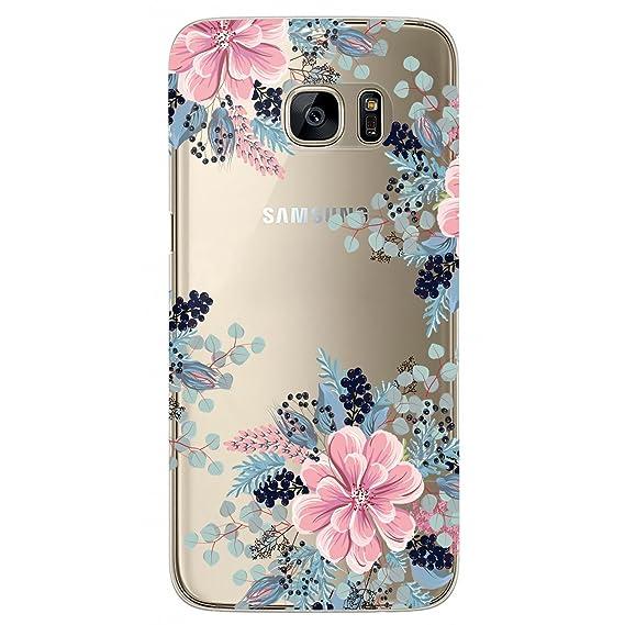 finest selection 95d77 a079d Amazon.com: S7 Edge Case, Galaxy S7 Edge Case, JAHOLAN Girl Floral ...