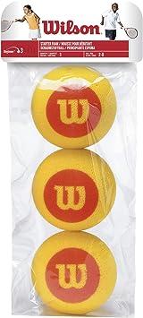 Wilson Starter Foam Pelotas de tenis, pack de 3, para niños ...