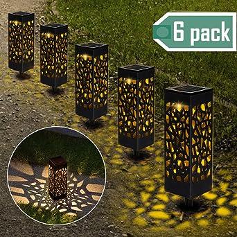 Lámparas Solares para Jardín, Nasharia 6 Piezas Luces Solar ...