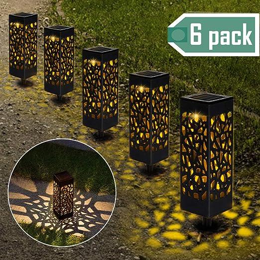 Lámparas Solares para Jardín, Nasharia 6 Piezas Luces Solar Exterior Jardin, IP65 Impermeable, Luces Solares de Jardín, Luz Solar de Césped, Farolillos solares de jardín para Camping, Jardín, Patio: Amazon.es: Iluminación