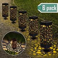 Lámparas Solares para Jardín, Nasharia 6 Piezas Luces Solar Exterior Jardin, IP65 Impermeable, Luces Solares de Jardín…