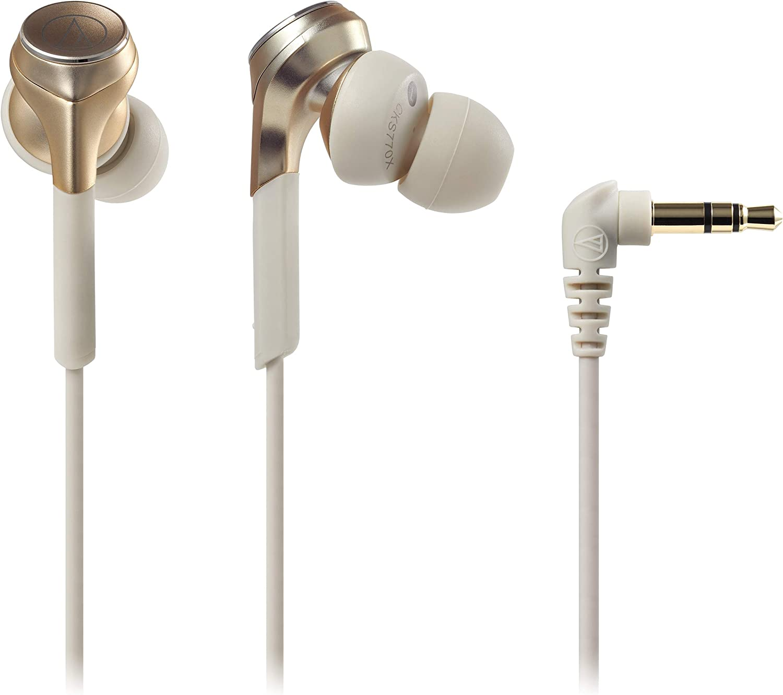 audio-technica SOLID BASS カナル型イヤホン 重低音 ハイレゾ音源対応 シャンパンゴールド ATH-CKS770X CG