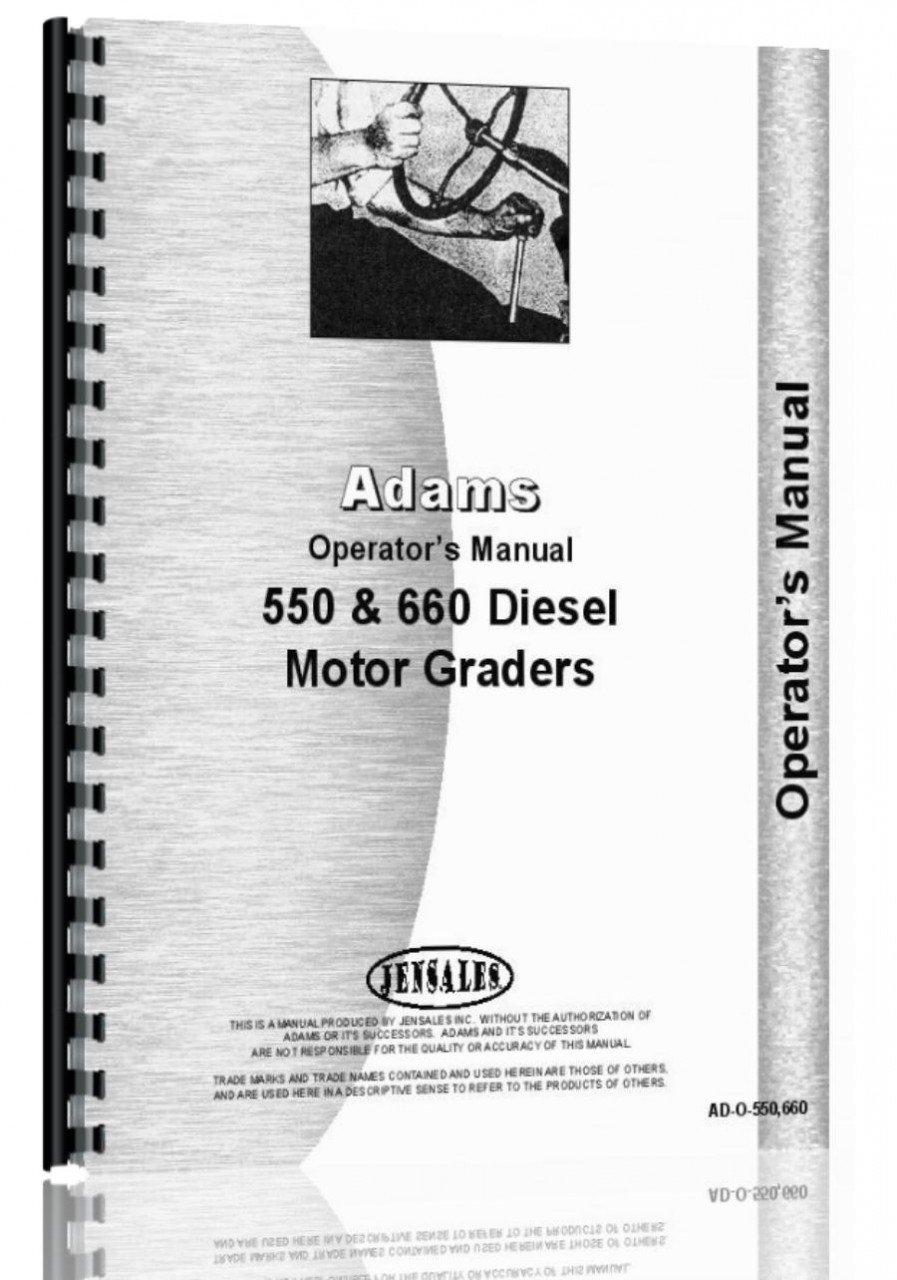 Download Adams 660 Grader Operators Manual ebook