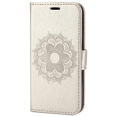 Carcasa Huawei Y6 2015, Funda Huawei Y6 2015 Libro de Cuero Con Tapa, EUWLY Flip Cover Case Mandala Diseño Cubierta Caso Elegante Mandala Flor en ...