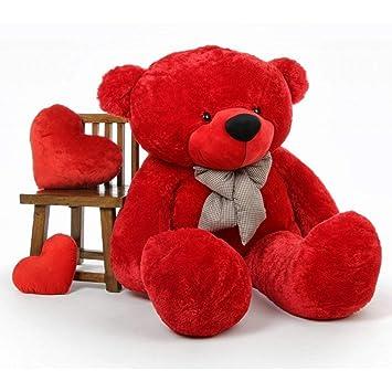 Sprinkles Teddy Bear -3 Feet (91 cm, Red)