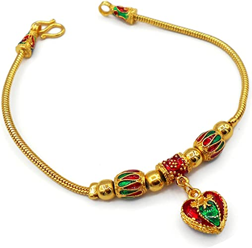 22K Yellow Gold Plated Necklace Bracelet Pendant Charm Choker Flower 17 Inches