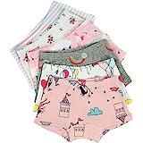 Kidear Ropa Interior para Bebé Kids Series de Niña Pequeña Bragas de Shorts de Algodón (Paquete de 6)