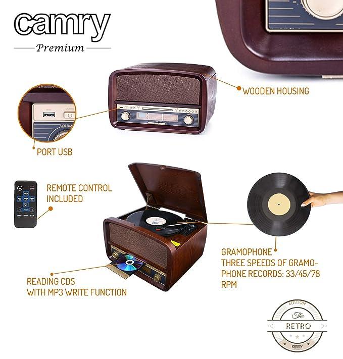 Camry CR1112 - Tocadiscos retro