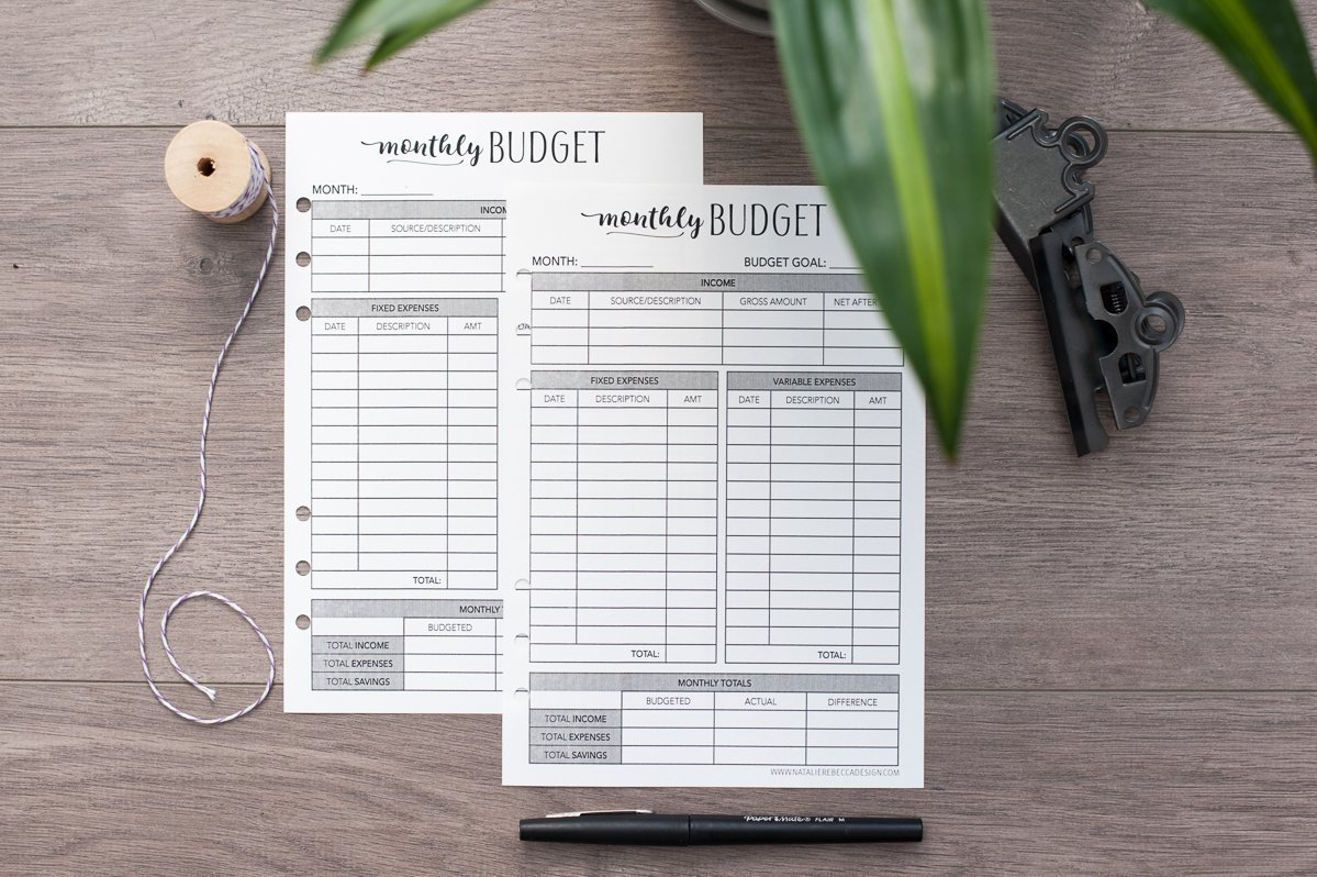 amazon com home finance kit for a5 planners monthly budget bill