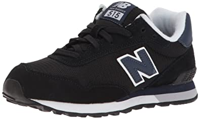608c7ee517c New Balance Boys  515v1 Classic Sneaker Black Blue 1 M US Little Kid