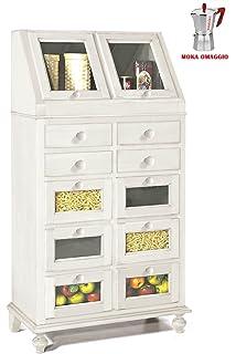 CLASSICO mobile dispensa Shabby Chic bianco per cucina con ...