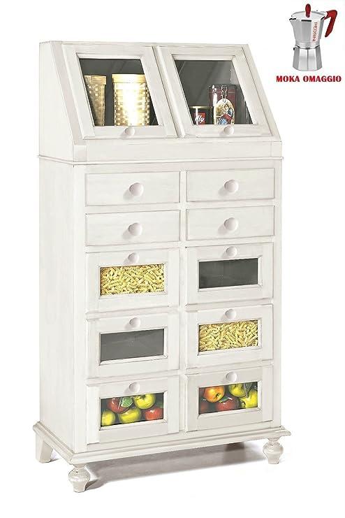 CLASSICO dispensa Shabby Chic bianca cucina laccato con ...