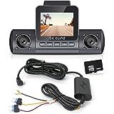 "Elinz 2K Dual Dash Cam 170° HD 2"" LCD Screen WiFi GPS Uber Taxi Car Video Camera Night Vision Novatek 96660 Sony…"