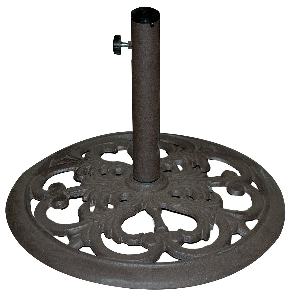Amazon.com : TropiShade 30-Pound Bronze Powder-Coated Cast Iron Umbrella  Stand - Patio Umbrella Stands Our Designs