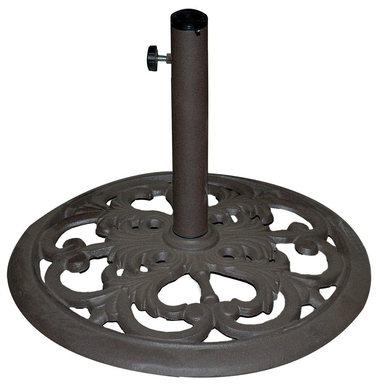 TropiShade 30-Pound Bronze Powder-Coated Cast Iron Umbrella Stand by Tropishade