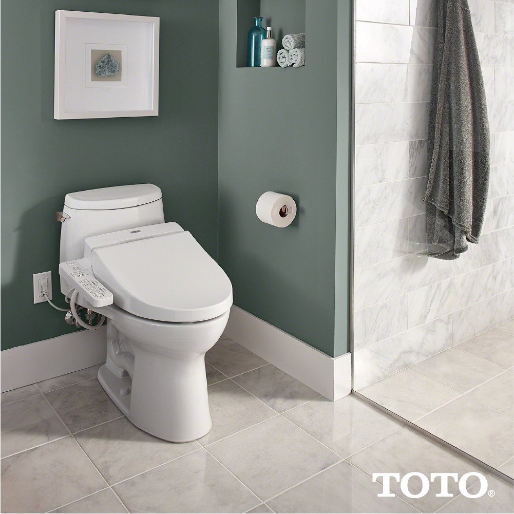 Buy TOTO SW2034-01 Elongated C100 Washlet, Cotton White Online at ...