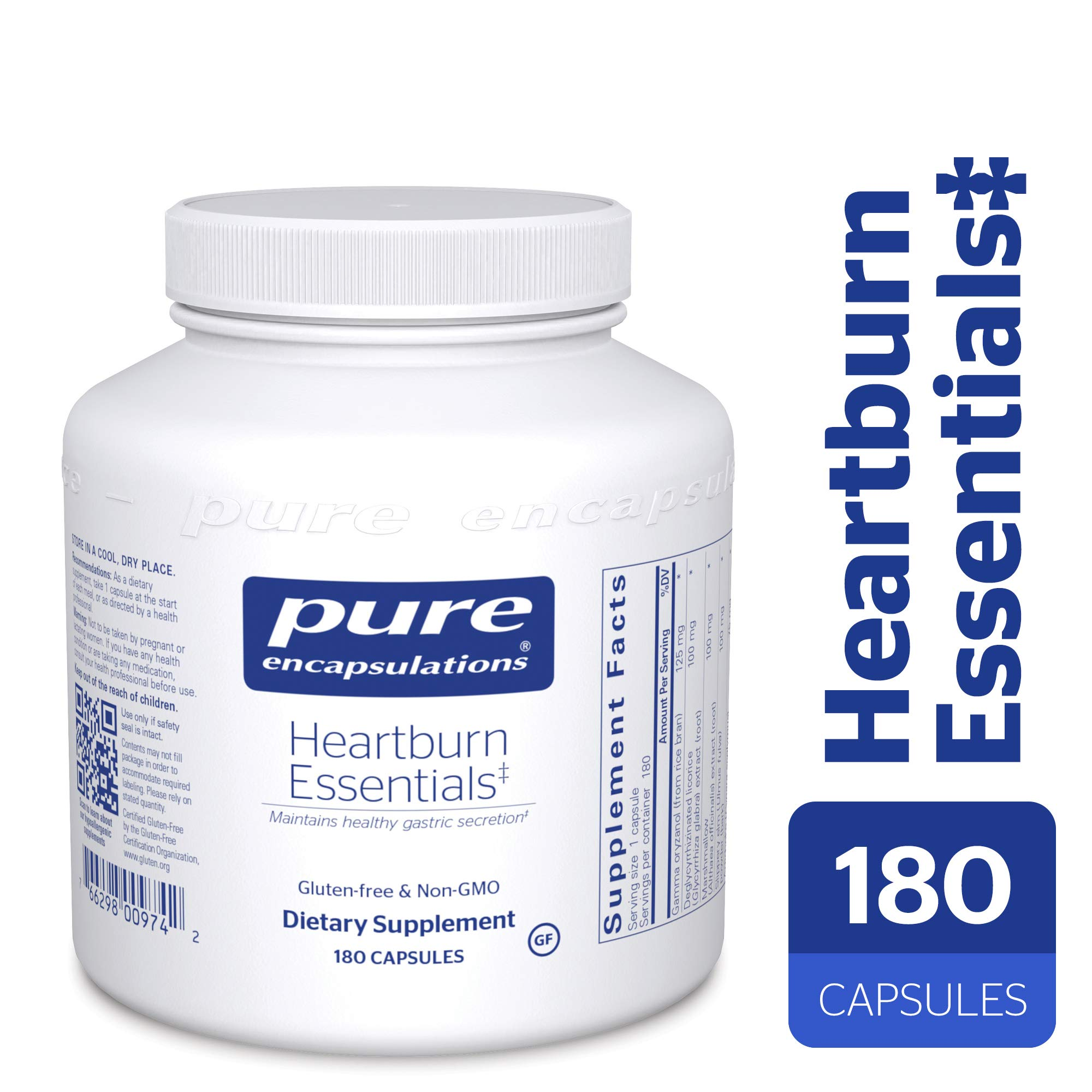 Pure Encapsulations - Heartburn Essentials 180c by Pure Encapsulations