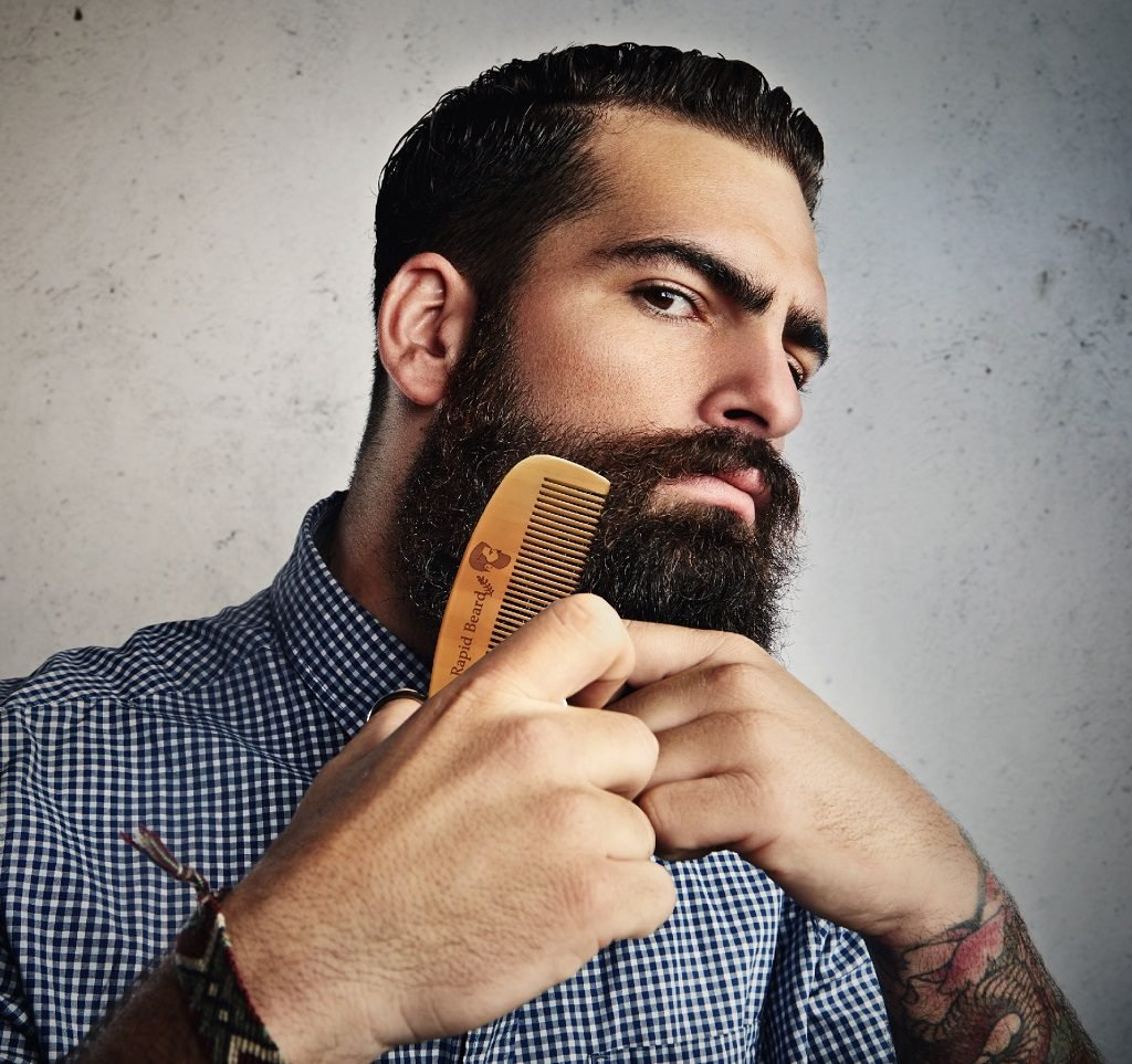 Beard Brush and Beard Comb kit for Men Grooming, Styling & Shaping - Handmade Wooden Comb and Natural Boar Bristle Beard Brush Gift set for Men Beard & Mustache Care by Rapid Beard by Rapid Beard (Image #6)