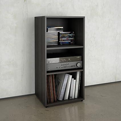 amazon com nexera 220230 allure 2 shelves bookcase ebony kitchen rh amazon com 2 shelf bookcase 2 shelf bookcase cream uk