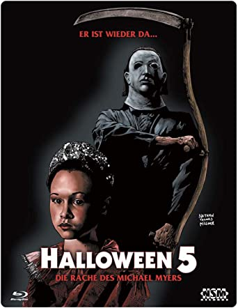 Halloween 5 Blu Ray.Halloween 5 Blu Ray Uncut Limitiertes 3d Starmetalpak Amazon Co