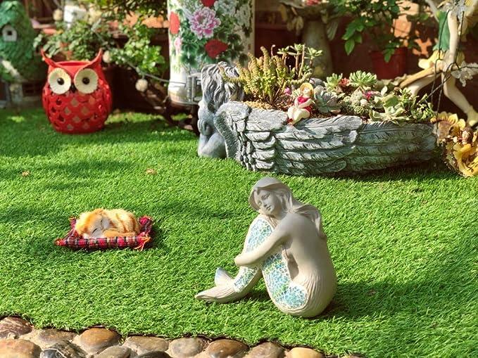 Sirena Estatuas Decoración Jardín Vintage Resina Figuras Figurines Idea De Regalo Para Su Jardín, Prado, Terraza O Patio Hogar Jardín Decoración: Amazon.es: Hogar
