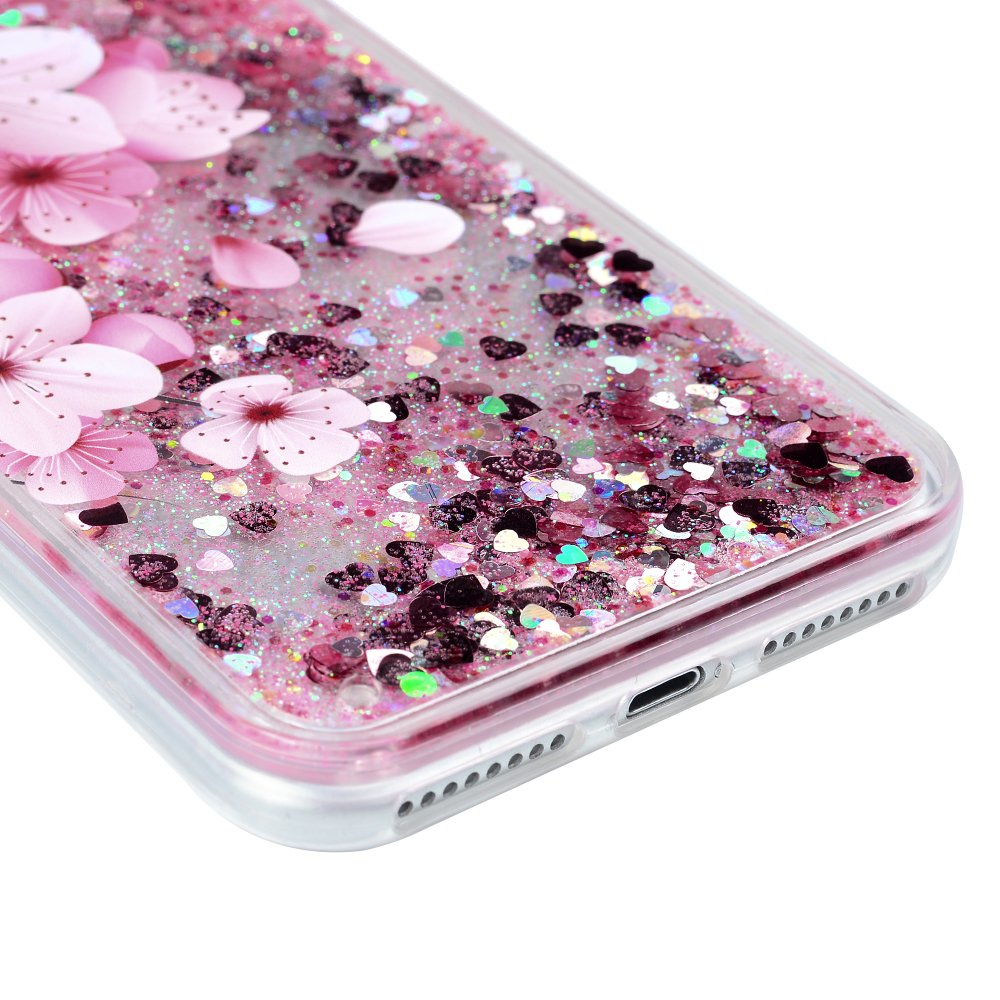 iPhone 7 Plus Case, Liquid Glitter Case Bling Shiny Sparkle Flowing Moving Love Hearts Cover Clear Ultral Slim Protective TPU Bumper Shockproof Drop Resistant Protective Case for iPhone 8 Plus KASOS by KASOS (Image #6)