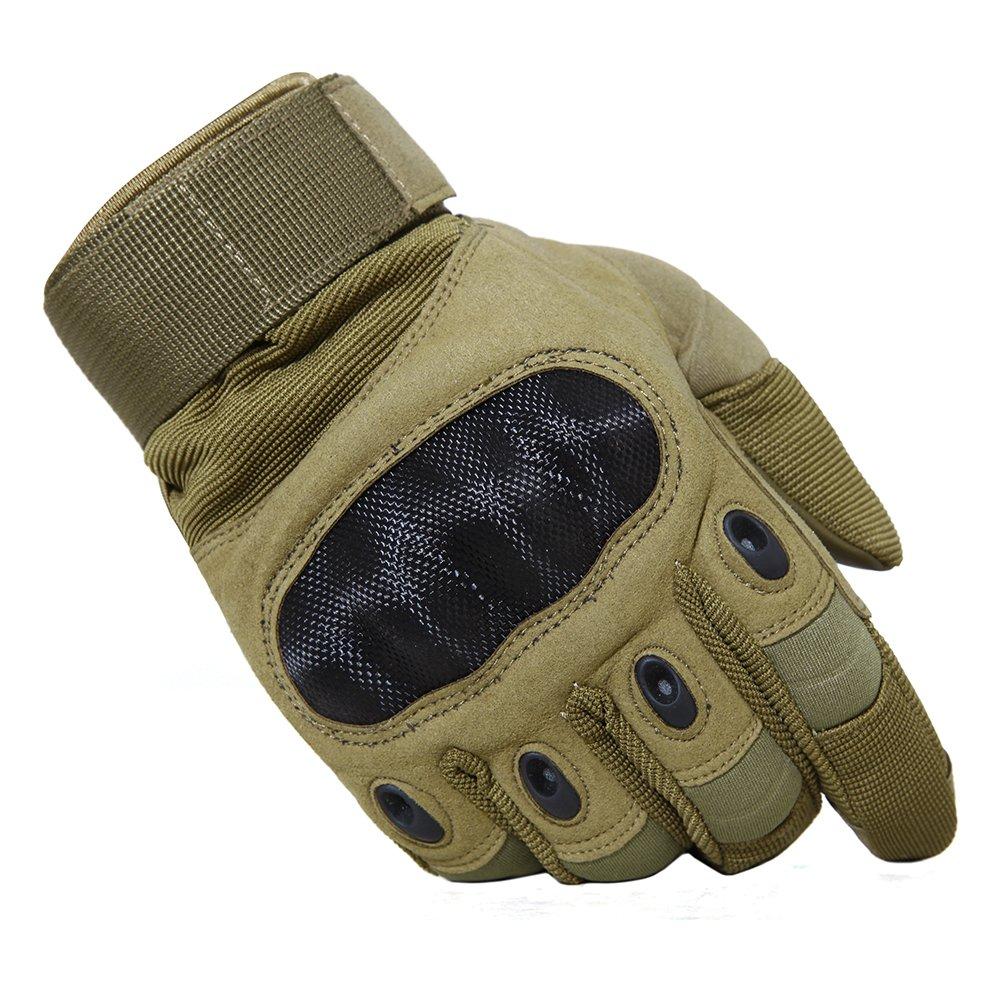 TACVASEN Winddicht Herren Taktische Handschuhe Vollfinger Outdoor Militär Handschuhe für Motorrad Radfahren Klettern