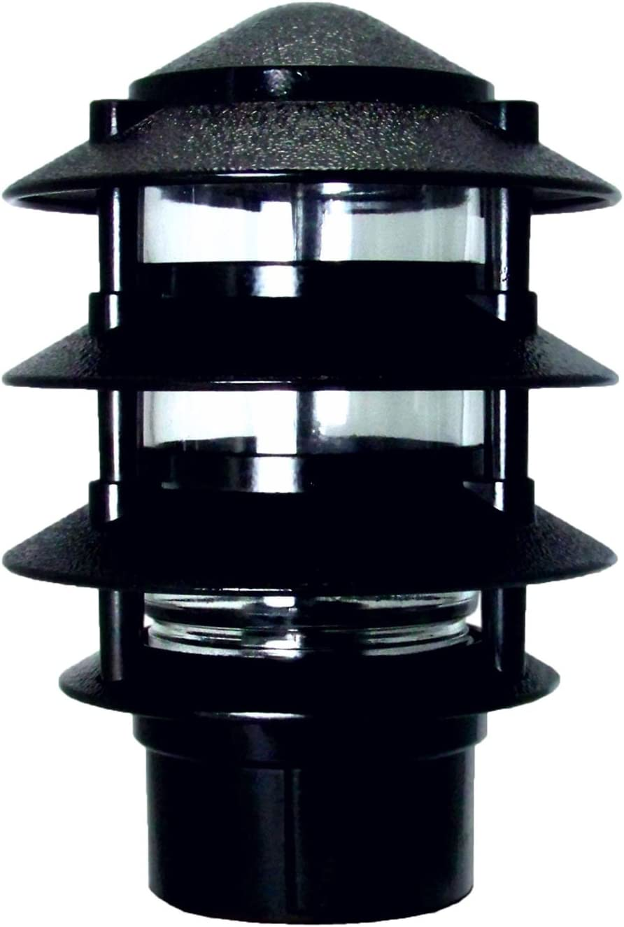 Greenfield PL4TPBBL Made in USA Post Base Weatherproof Path Light, Black